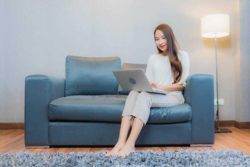 Laptop Sofa Living Room Interior
